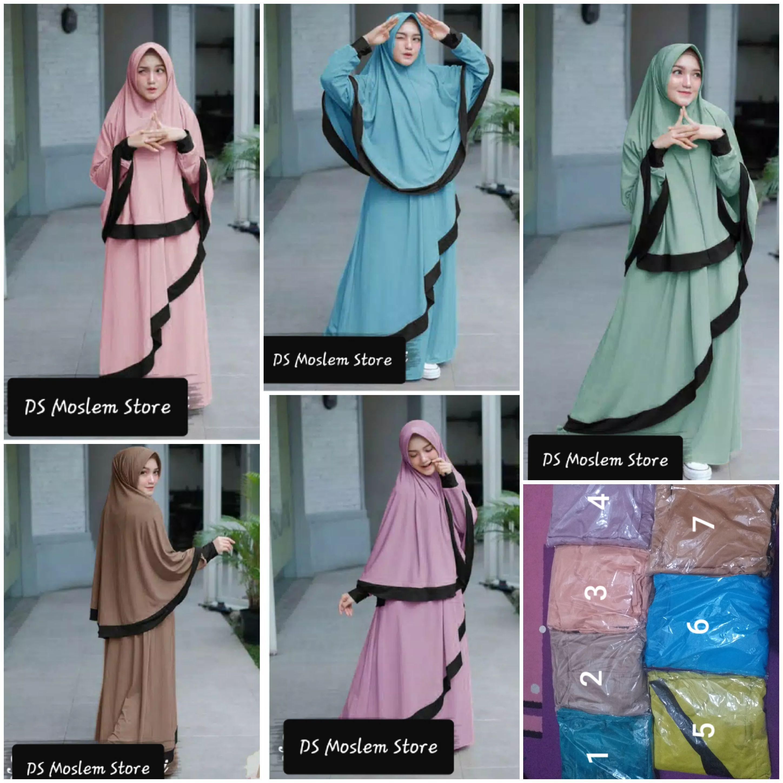 BIG SALE WA 10 10 10 Grosir Baju Gamis Syari Set Hijab